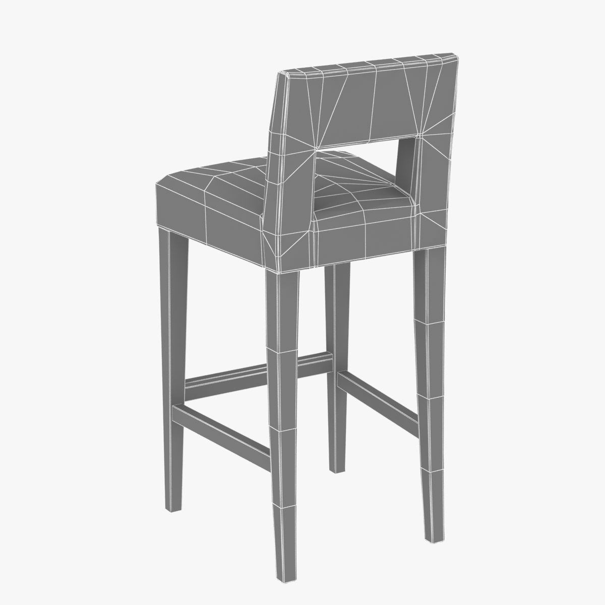 Sofa And Chair Company Hugo Bar Stool 3D Model MAX OBJ 3DS