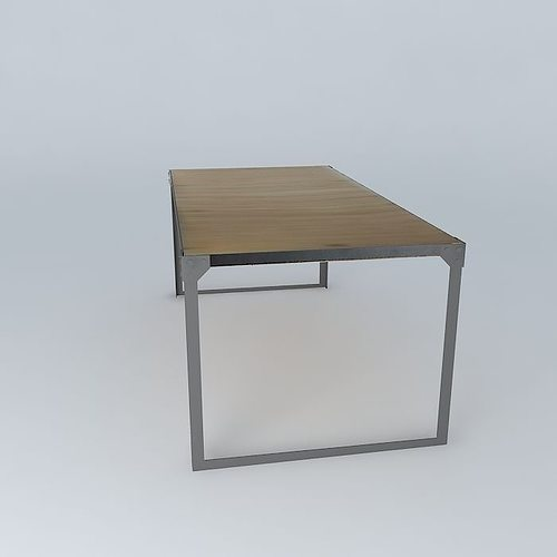Dining table docks maisons du monde 3d model max obj 3ds - Petite table maison du monde ...