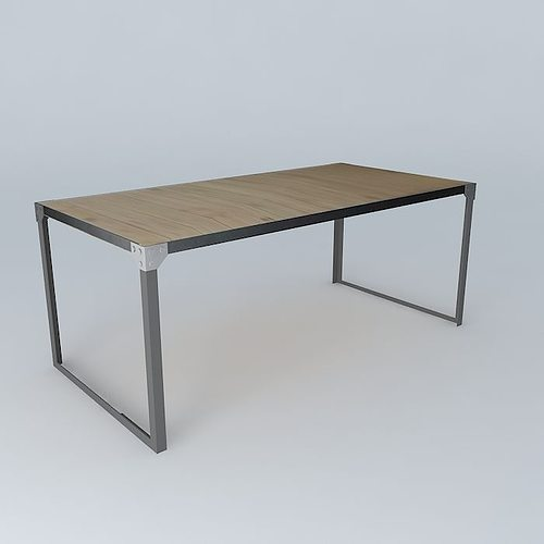 Dining table docks maisons du monde 3d cgtrader - Table chevet maison du monde ...