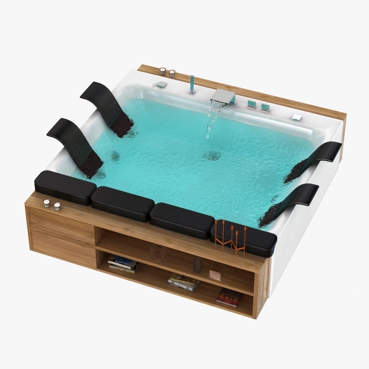 blubleu thais art bath jacuzzi 3D model | CGTrader