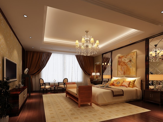 3d bedroom or hotel room collection cgtrader for Bedroom designs 3d model