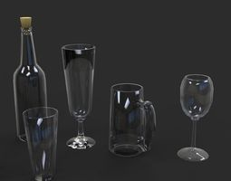 3D model Glass collection
