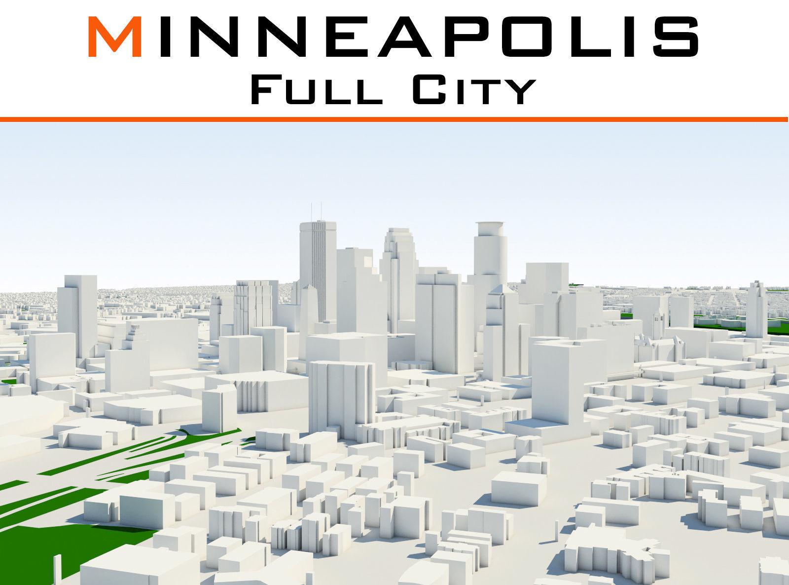 Minneapolis Full City | 3D model