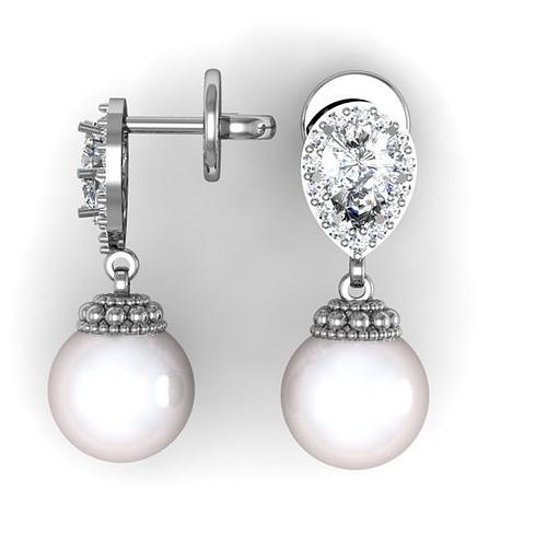 pearl earrings 3d model stl 3dm 1
