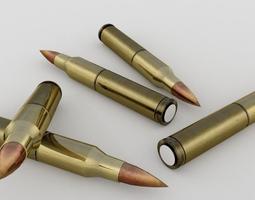 brass bullets low-poly 3d model