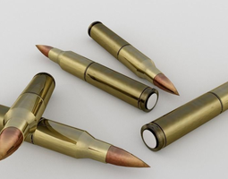 Brass Bullets 3D Model
