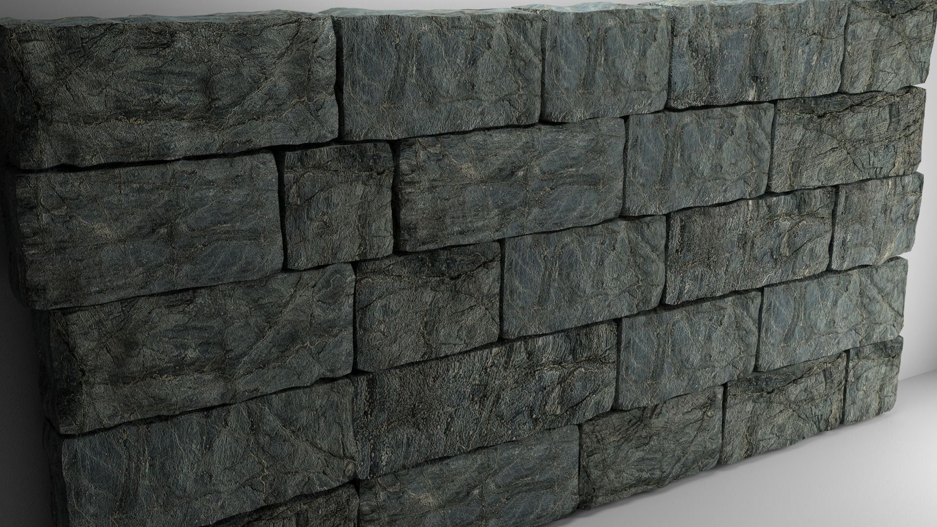 High Poly Natural Stone Wall 3d Model Cgtrader
