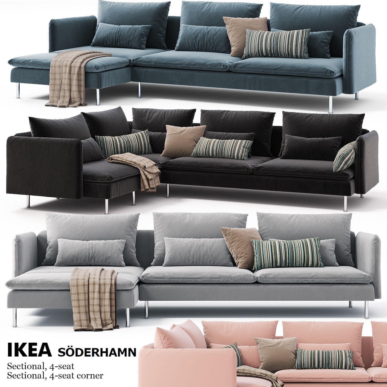 Sofas Ikea Soderhamn Sectional 4 Seat