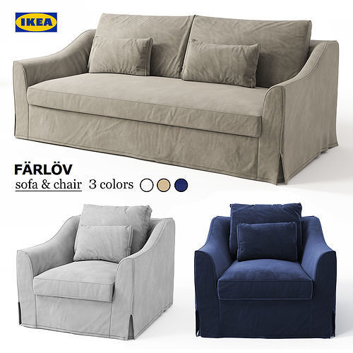 Sofa Chair Ikea Farlov Cgtrader