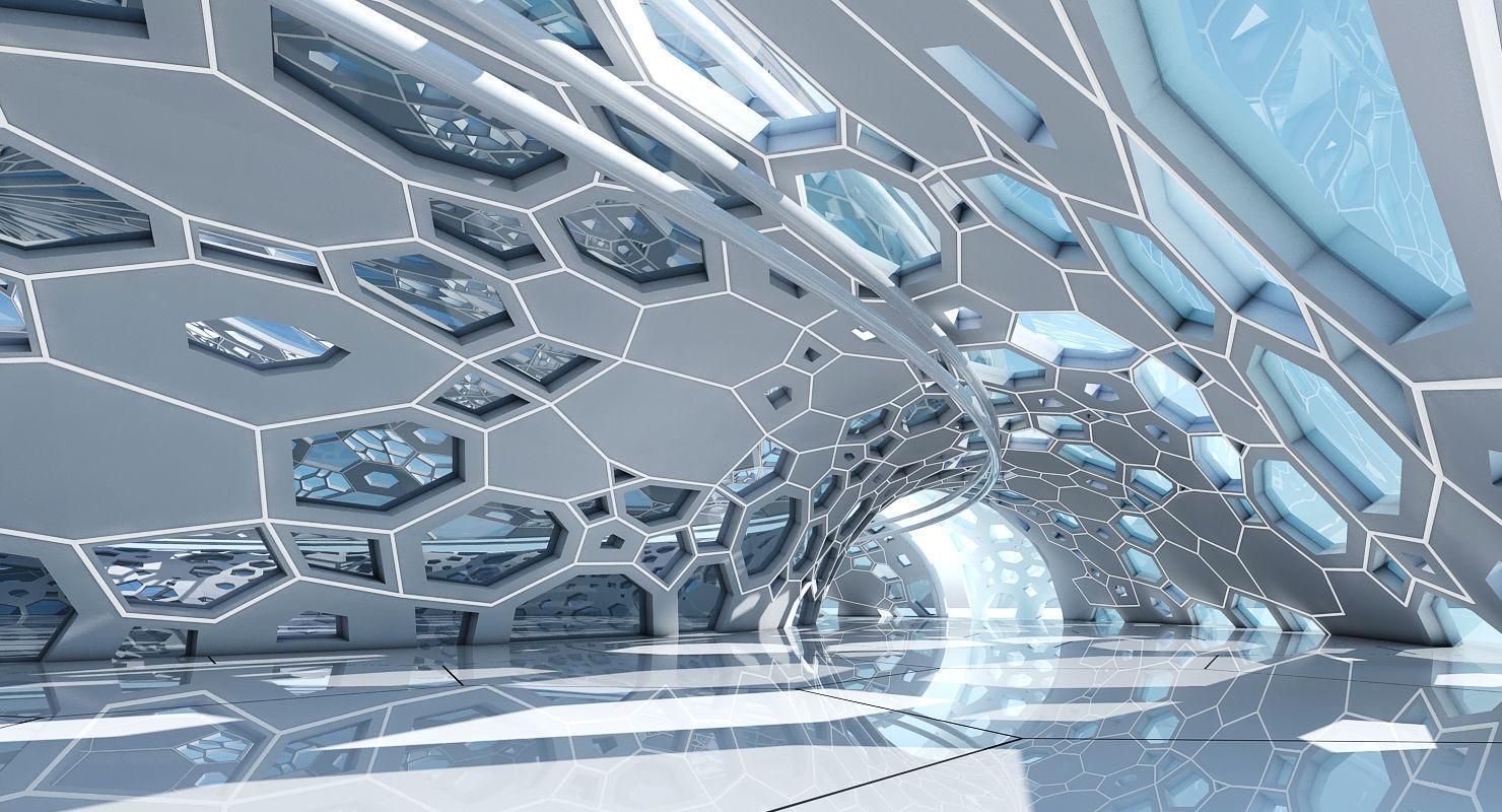 Futuristic Architectural Dome Interior