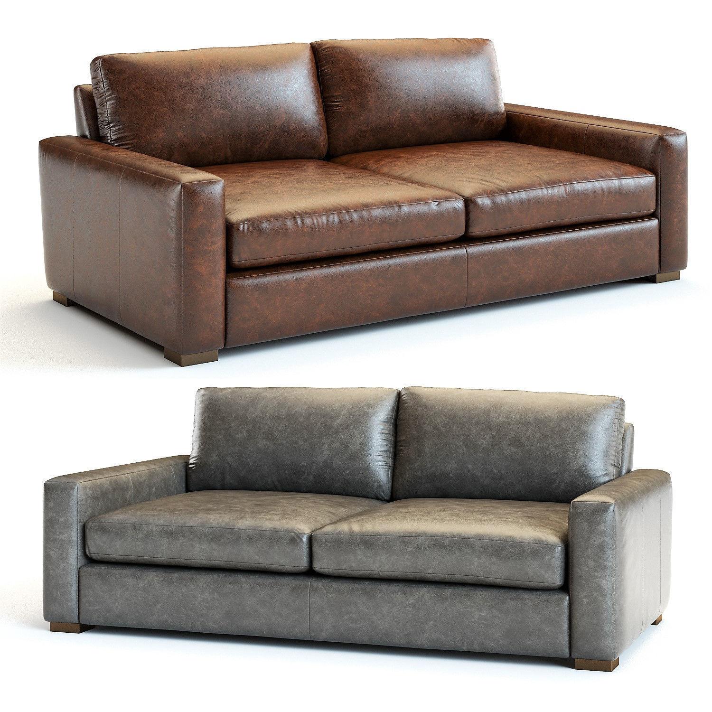 Restoration Hardware - Maxwell Leather Sofa | 3D model