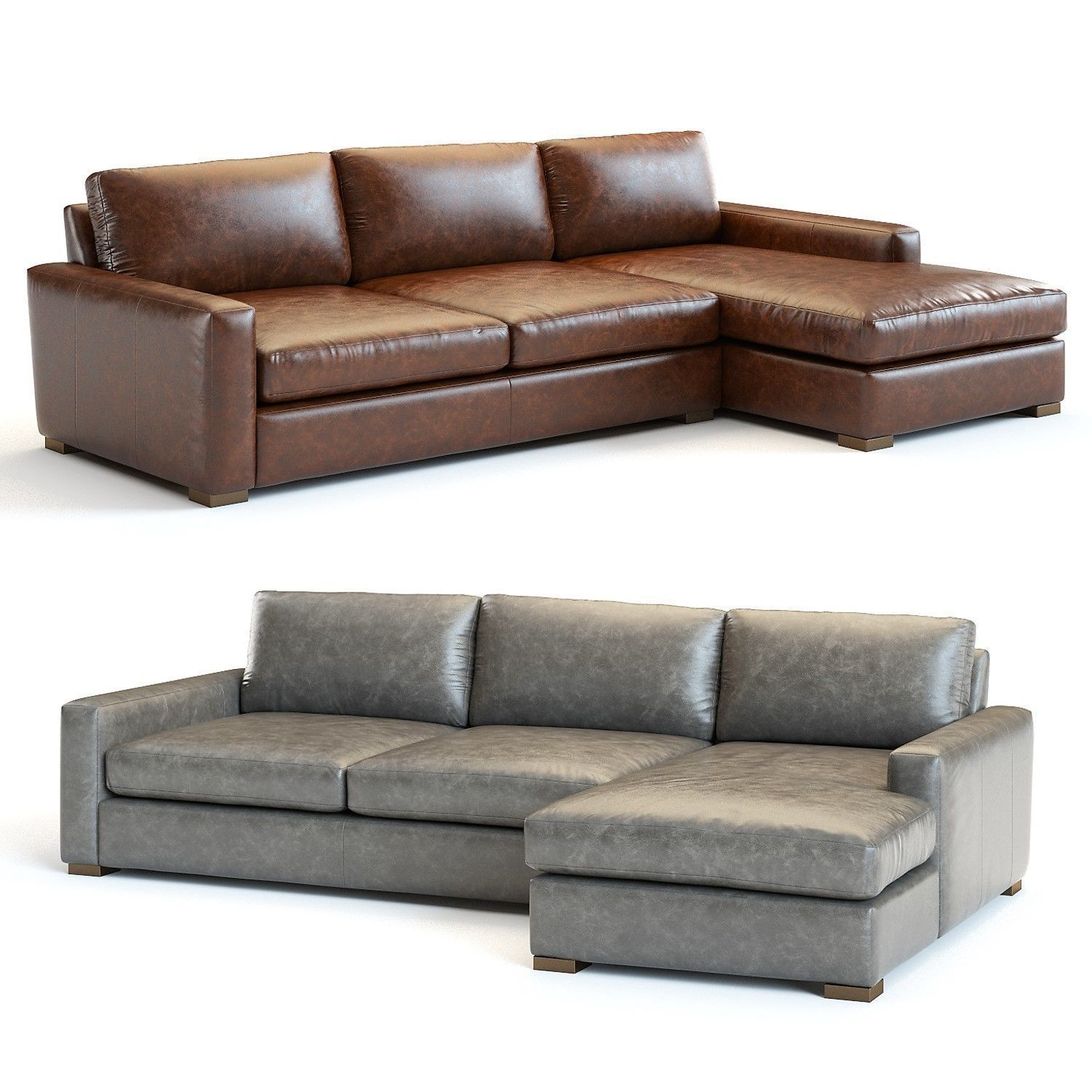 Restoration Hardware Maxwell Leather Sectional Model