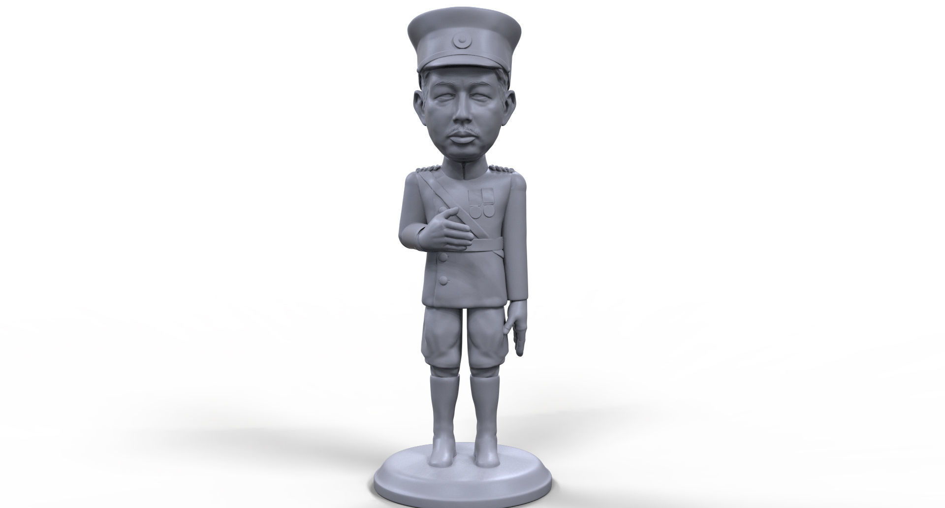 Emperor Hirohito stylized high quality 3D printable miniature
