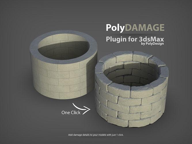 polydamage for 3dsmax 3d model ms 1