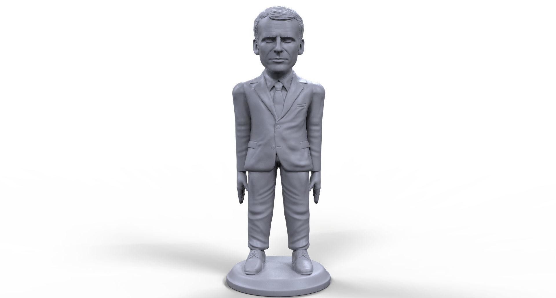 Emmanuel Macron stylized high quality 3D printable miniature