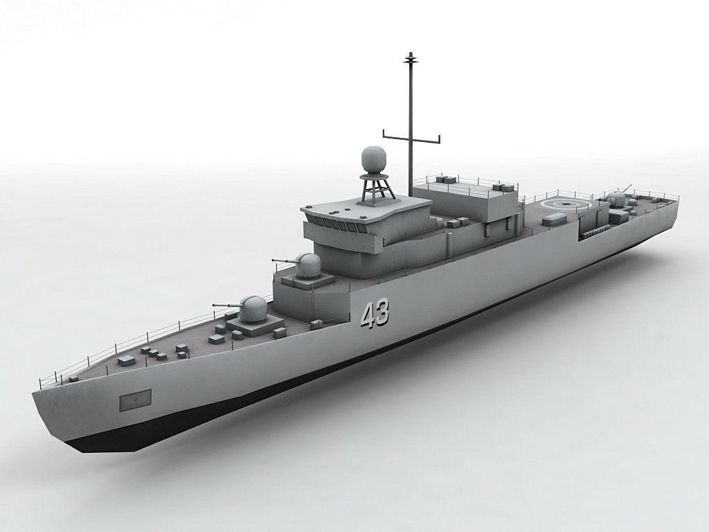 Meko 140 Corvette Military Frigate Ship 3D model