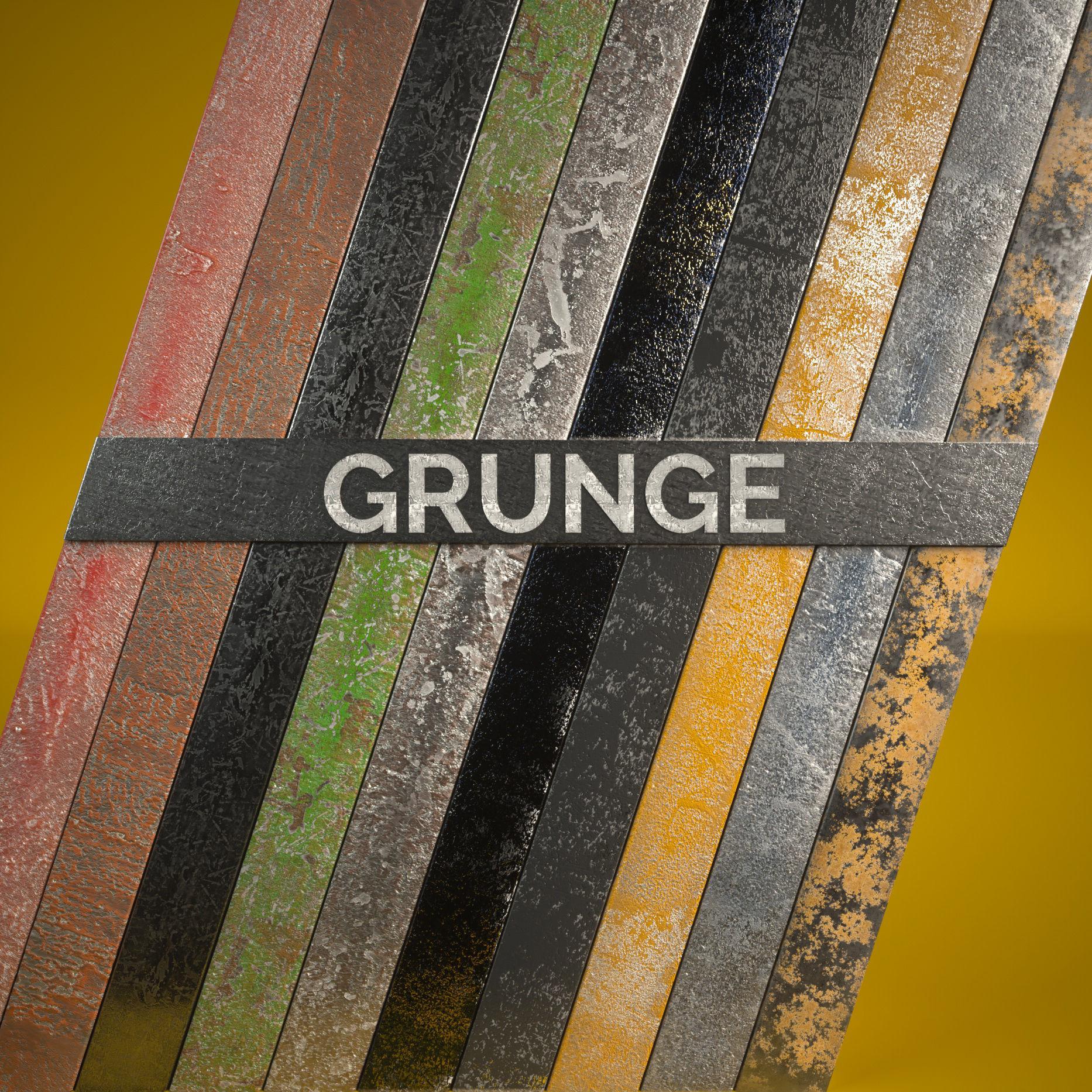 10 Grunge Metal Materials for C4D Octane Render   Texture