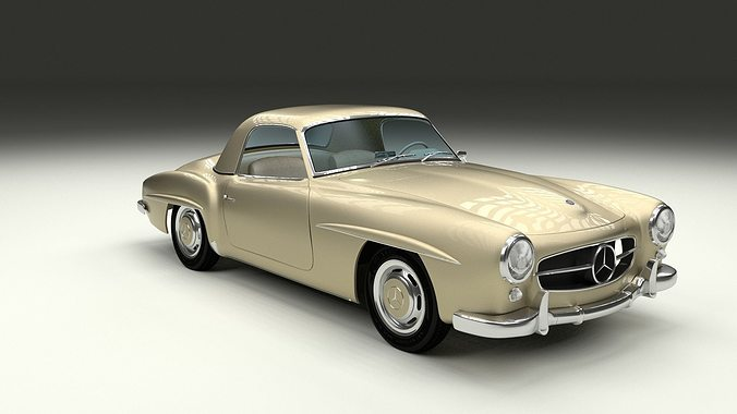 3d Mercedes 190sl With Interior Hard Top Cgtrader