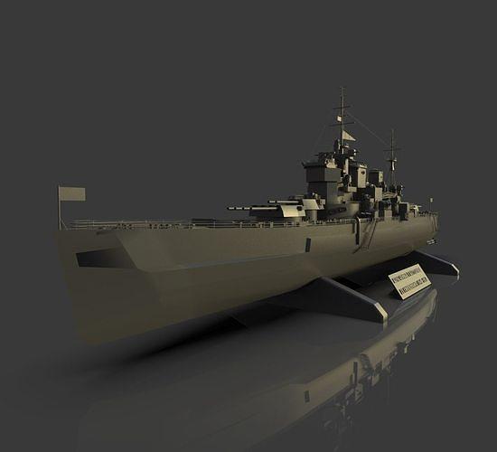 battleship king george v 3d model obj mtl fbx ma mb 1
