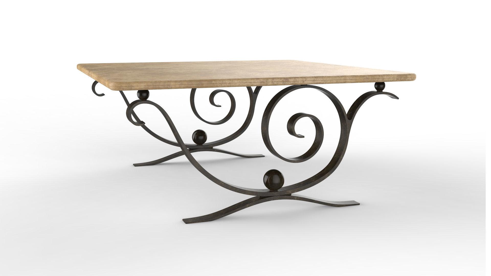 Stupendous Coffee Table Aegean 3D Model Machost Co Dining Chair Design Ideas Machostcouk