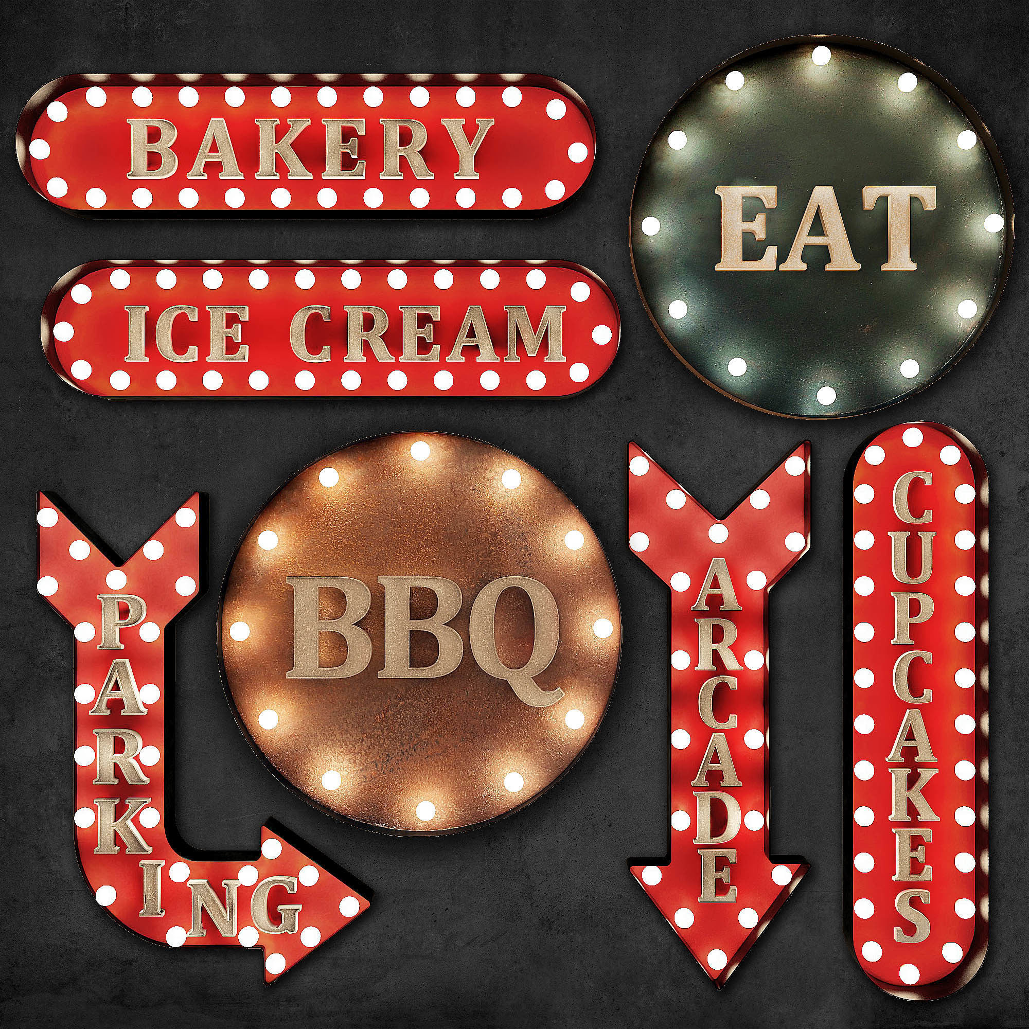 Lighted Metal sign 4