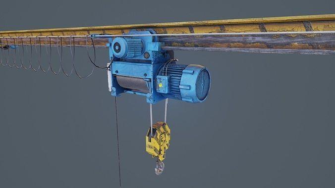 crane overhead 3d model low-poly max obj mtl 3ds fbx ma mb unitypackage prefab 1