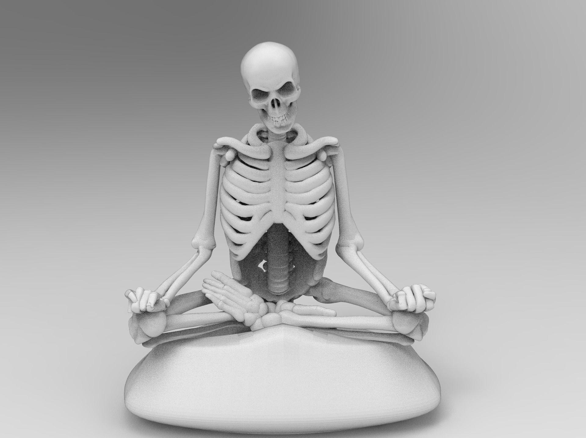 Meditating Skeleton in lotus pose
