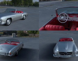 3D model Mercedes 190SL with Interior