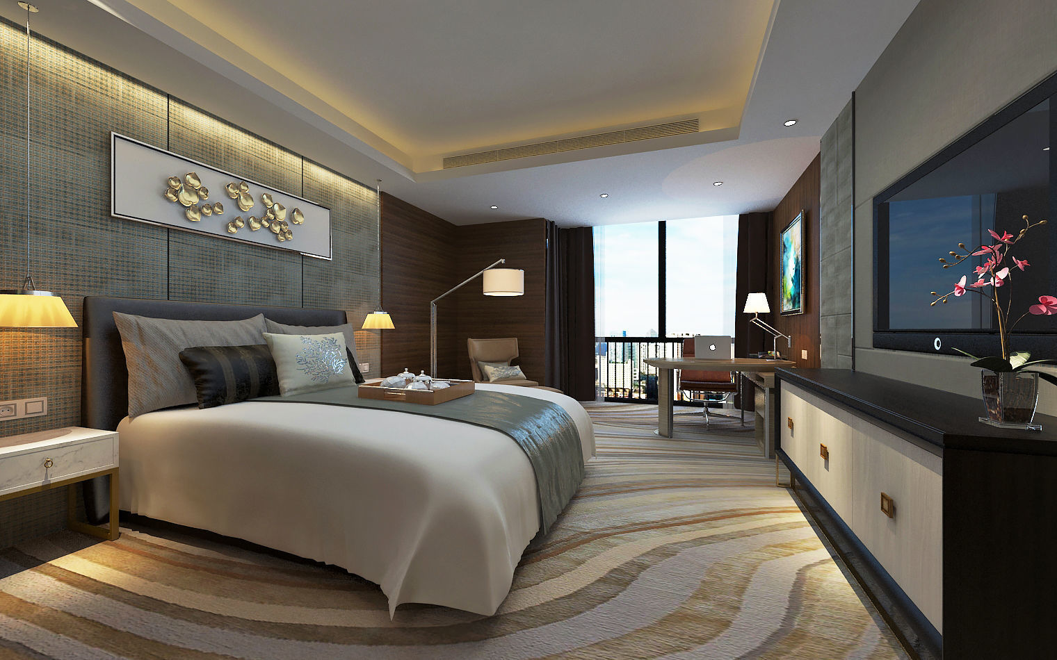 Modern Luxury Hotel Room Design 3D  CGTrader