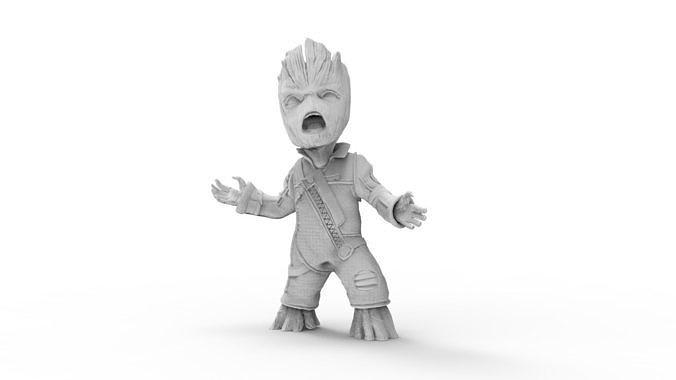 Baby Teenage Groot Character | 3D Print Model