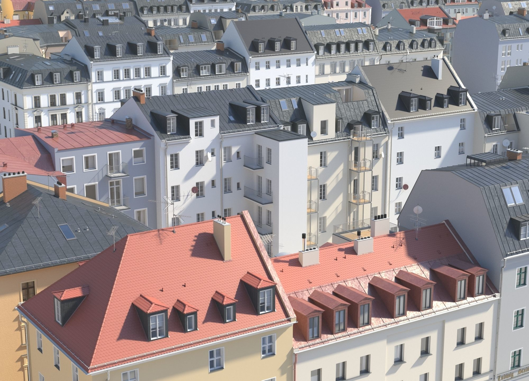 City Building Collection - Pack of 22 detailed town houses