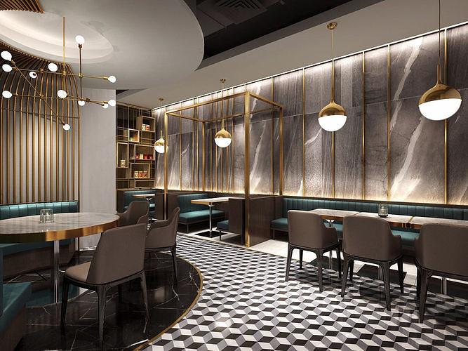restaurant 01 3d model max 1