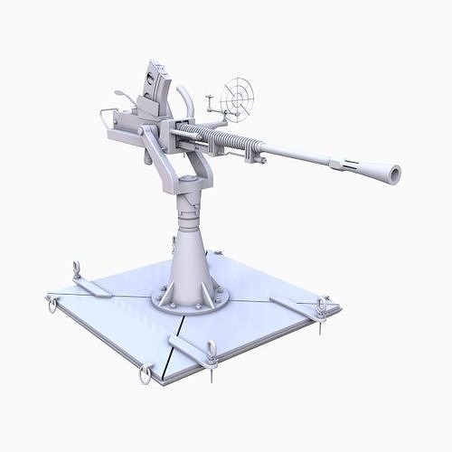 anti aircraft model 3d model max obj mtl 3ds fbx 1