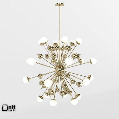 Stilnovo Sputnik pendant light 3D model & Stilnovo Sputnik pendant light 3D model   CGTrader azcodes.com