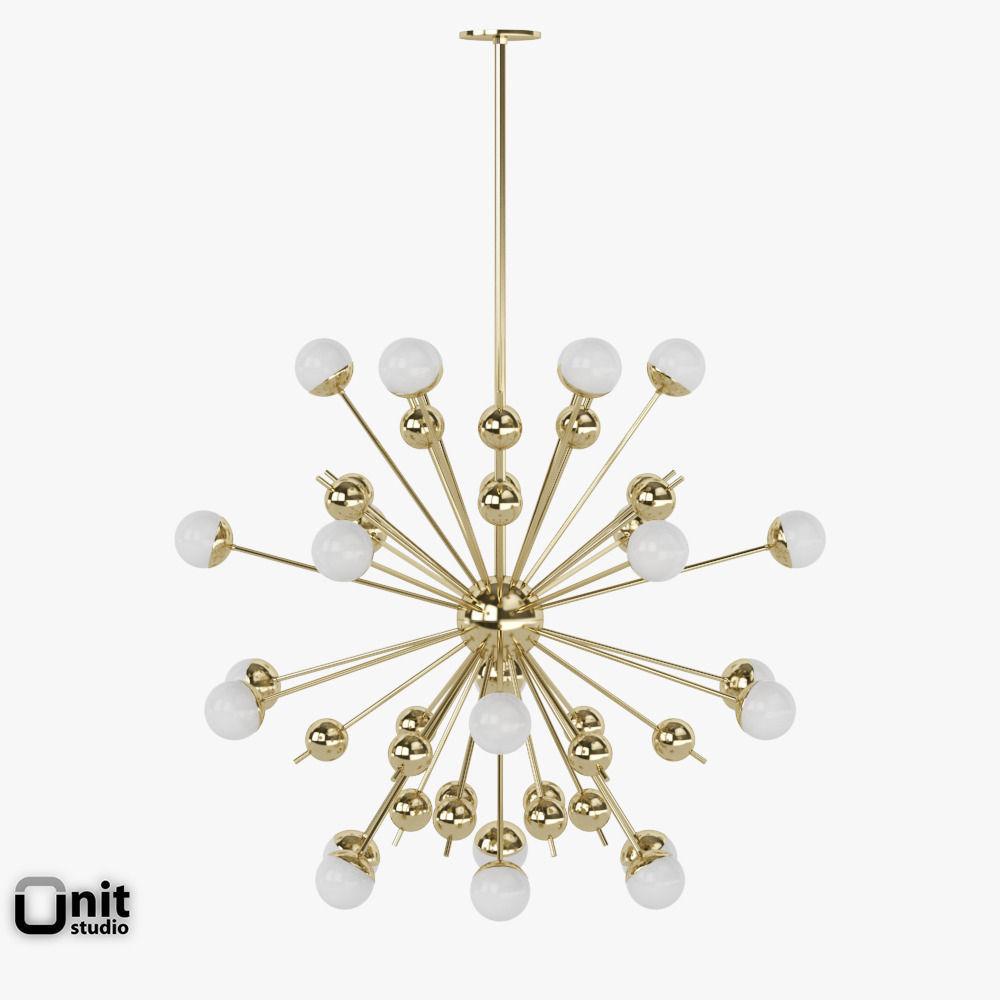 3D model Stilnovo Sputnik pendant light | CGTrader