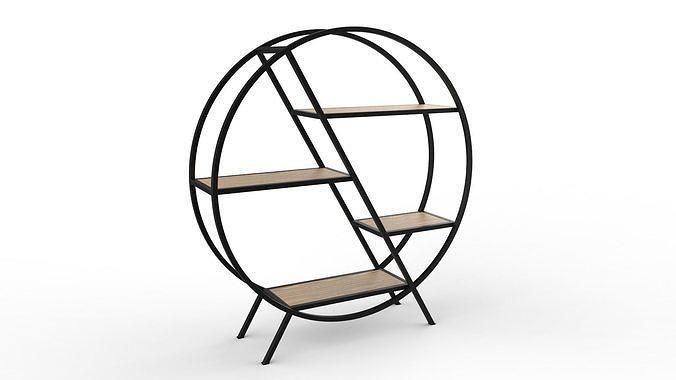 phazz metal round shelf 3d model obj mtl 3ds fbx 3dm stp bip ksp 1