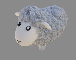 3D asset Sheep cartoon