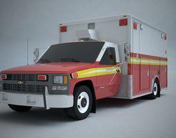 3D Ambulance Chevrolet