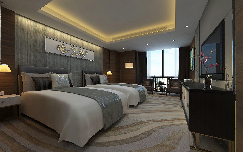 3d Model Modern Luxury Hotel Double Bed Room Design