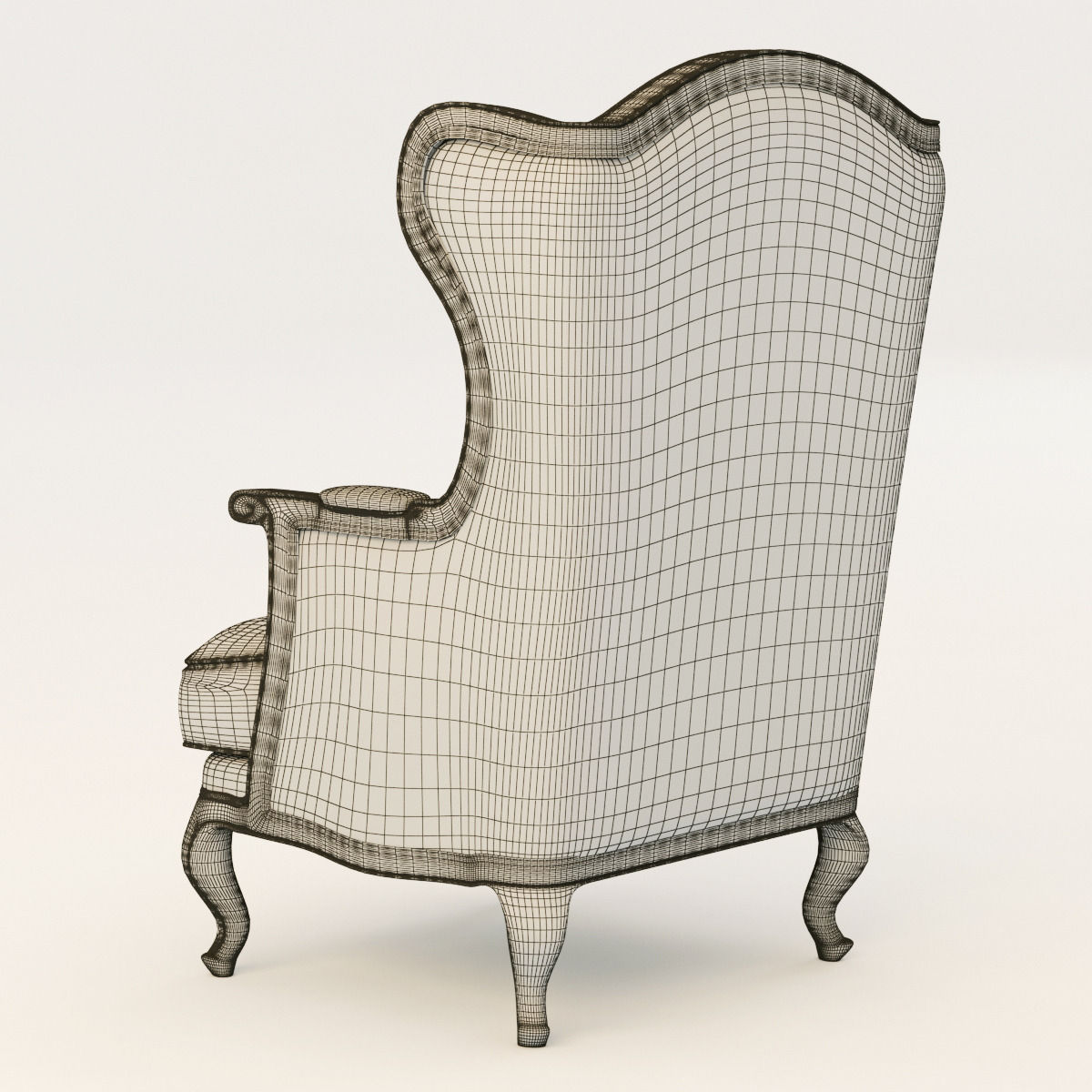 Perfect ... Country Corner Chateau Armchair 3d Model Max Obj Fbx Mtl 7 ...