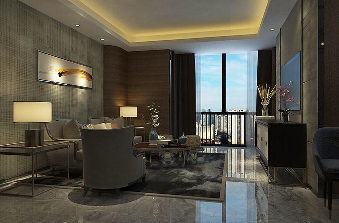 Modern Luxury Hotel Suite Living Room, Living Room Suites