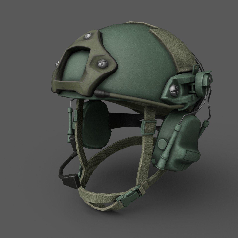 Helmet military Scifi ver 3 | 3D model