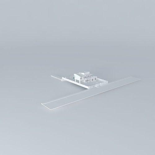 beach house 3d model max obj 3ds fbx stl skp 1