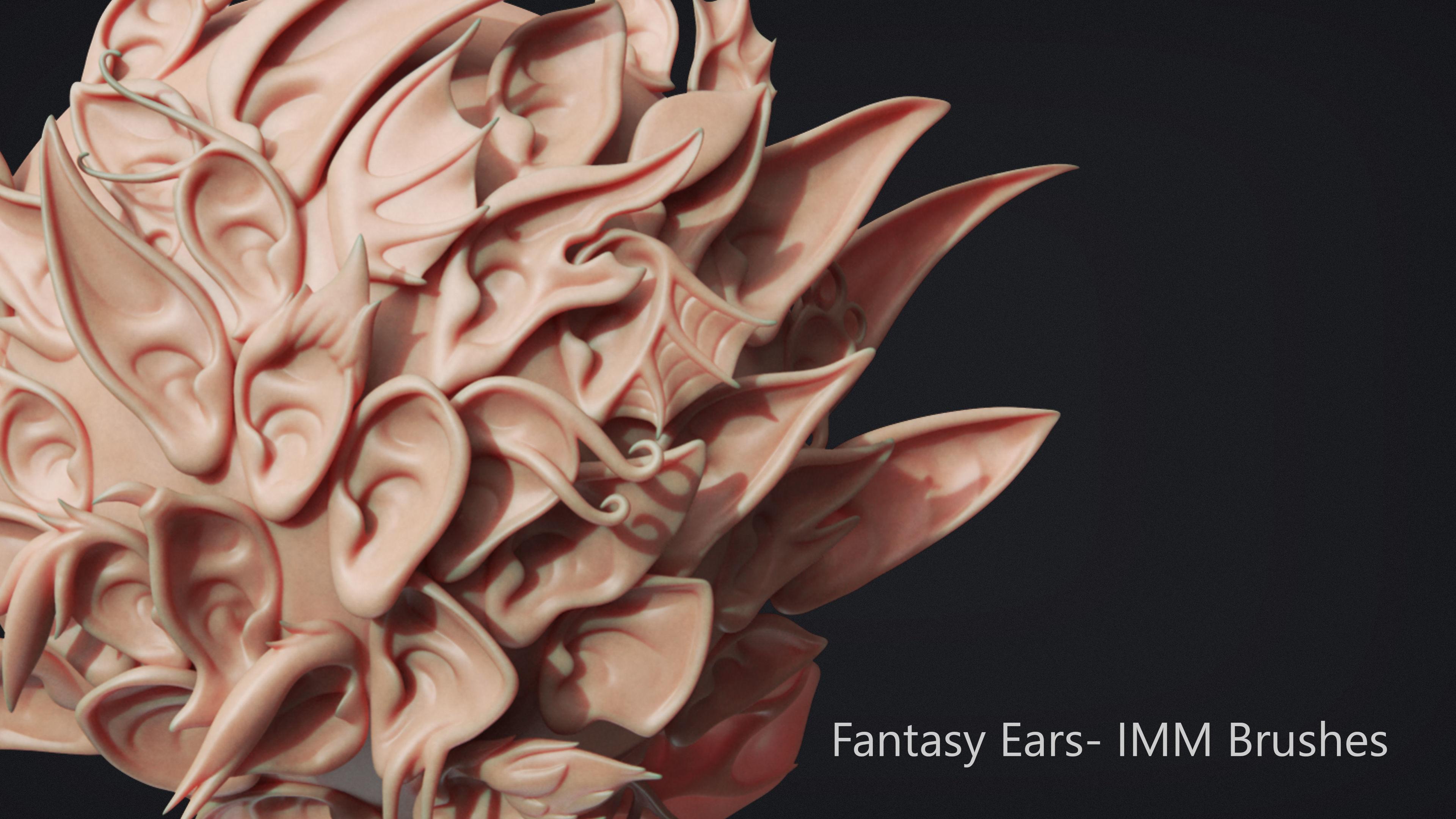Zbrush - 40 Fantasy Ears - IMM Brush