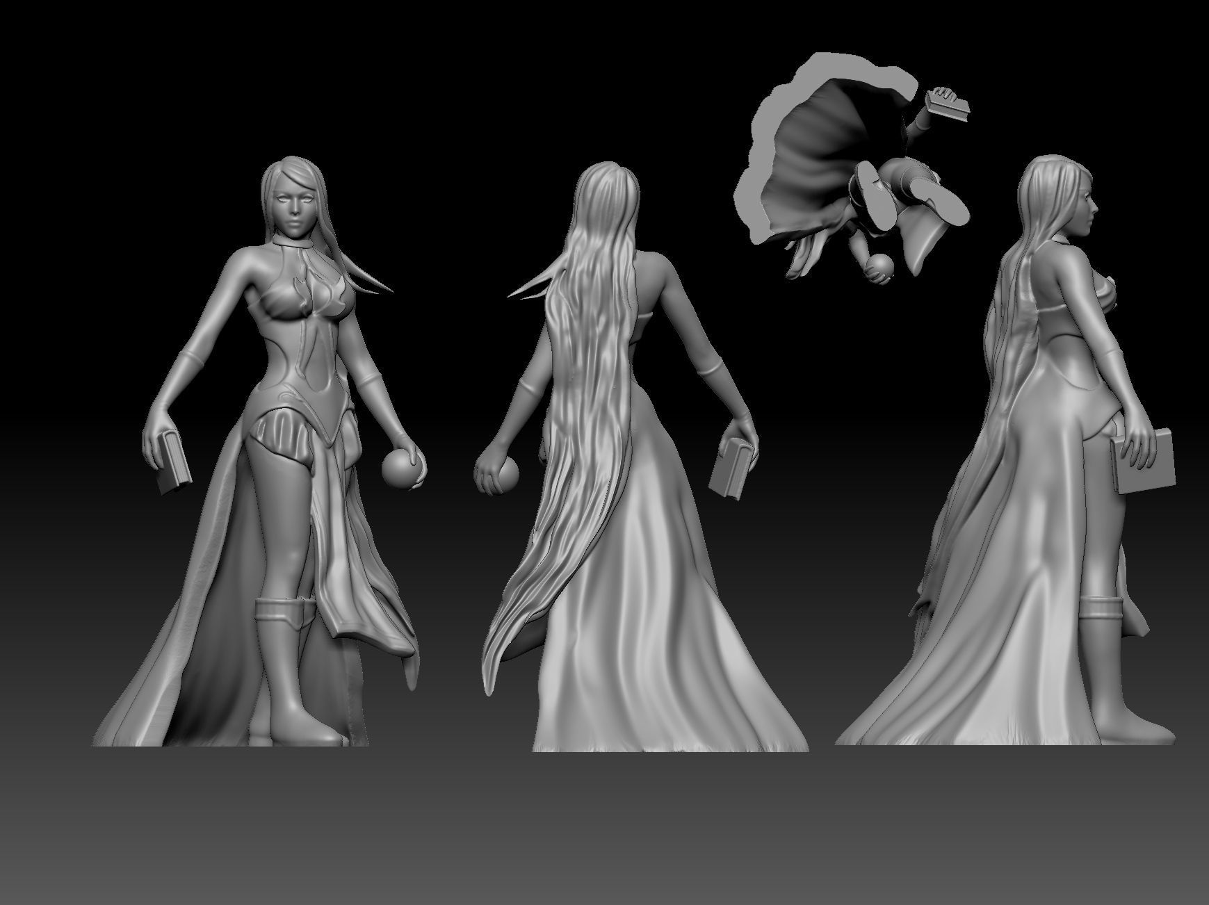 Sorceress   witch enchantress character for Dungeons and Dragons
