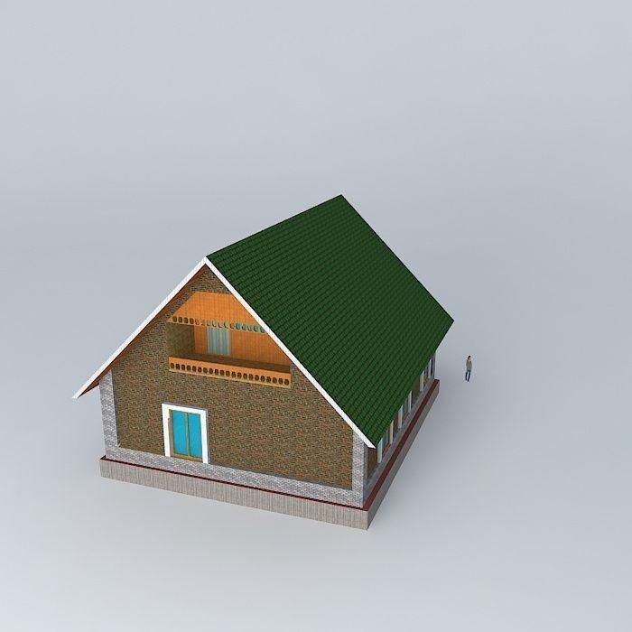 My House Free 3d Model Max Obj 3ds Fbx Stl Dae