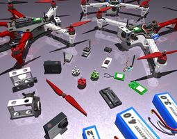 multicopters  pack 3d model VR / AR ready