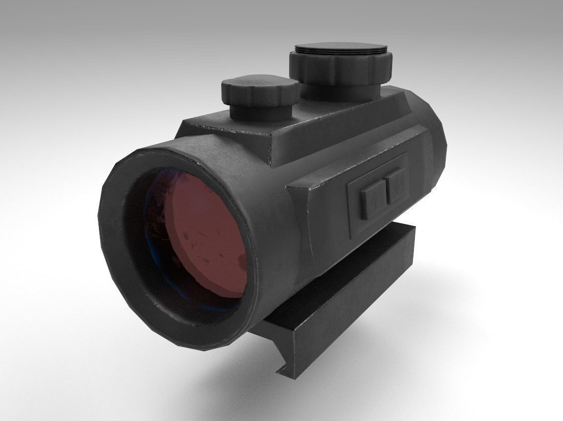Red Dot - CQB Sight - Weapon Attachment - PBR