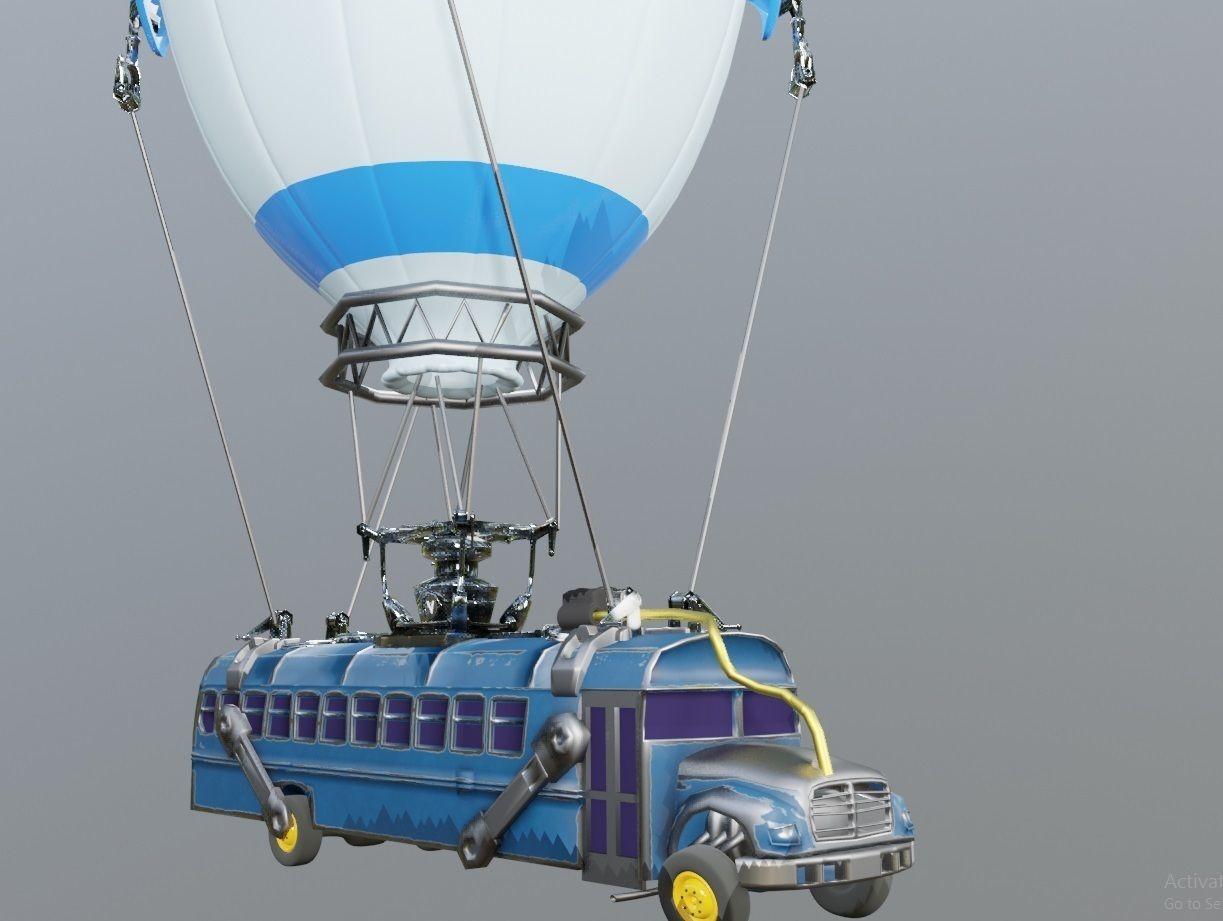 flying bus   3D model
