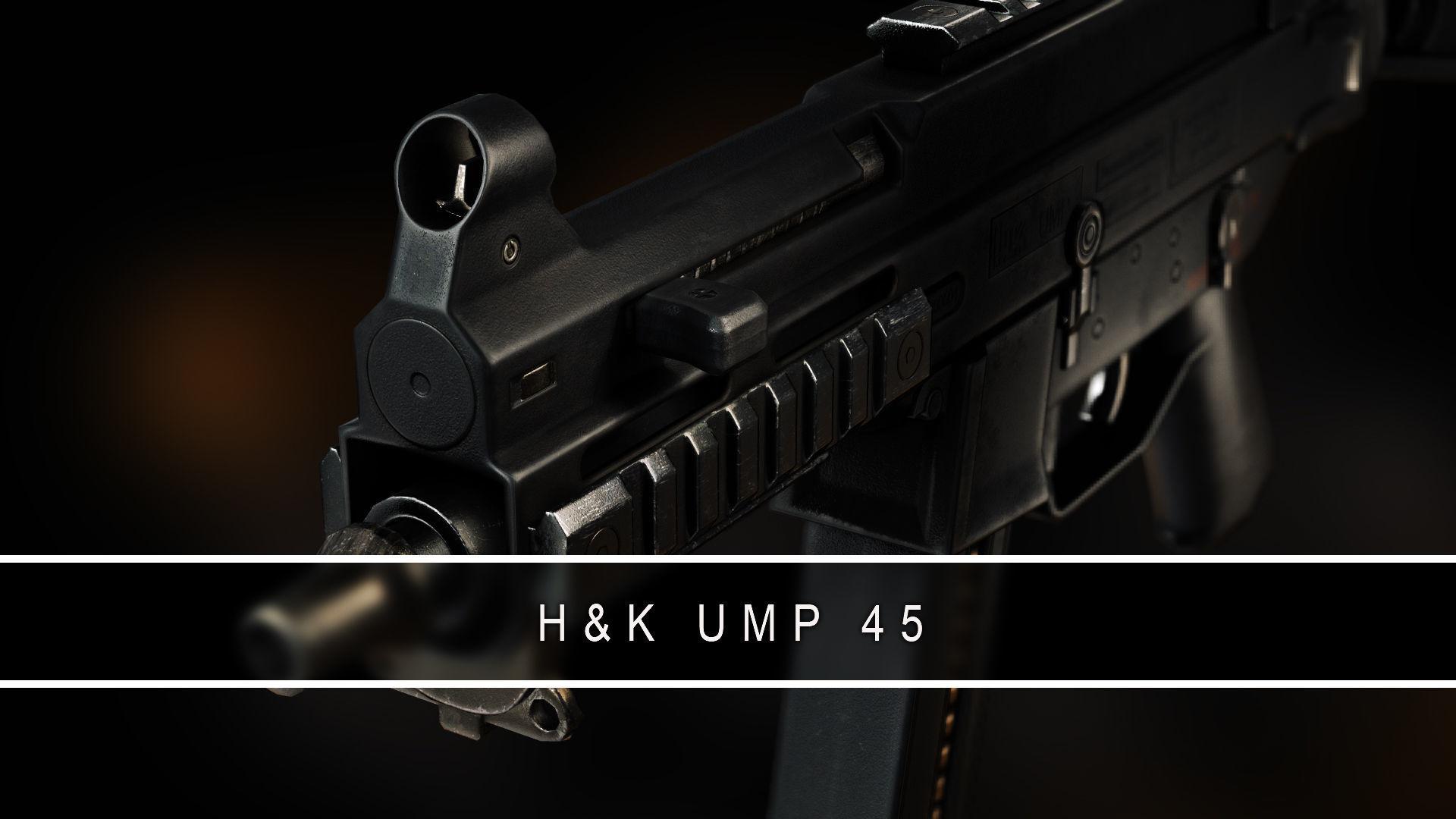 UMP 45 Submachine gun Gameready